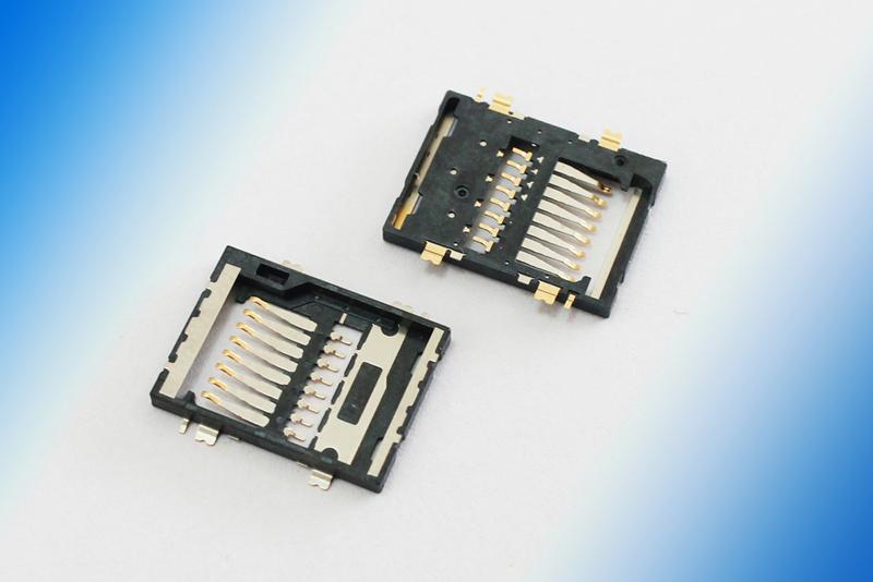 精密手机连接器SD卡